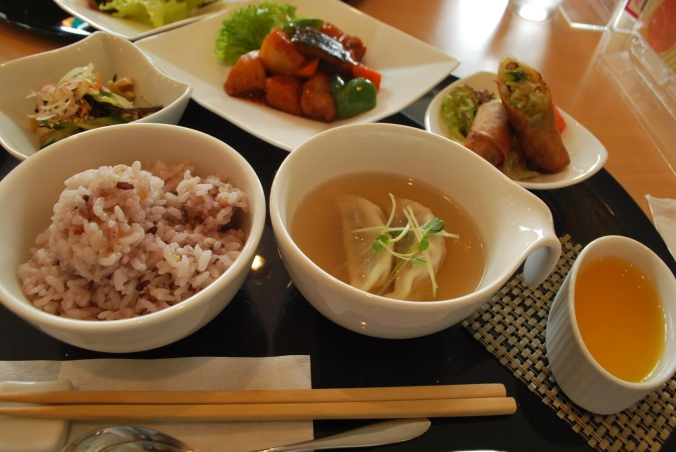 Lunch set in Japan. This was probably more like $12-15. Yum.