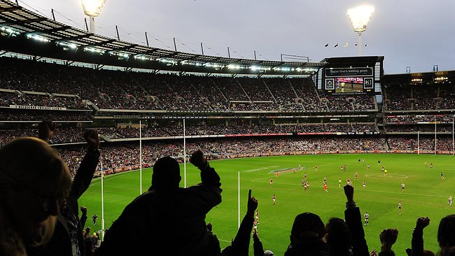 What it looks like to spectate at an AFL match. Image: George Salpigtidis @ news.com.au
